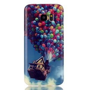 Softy gelový obal na Samsung Galaxy S7 edge - nafukovací balónky - 1