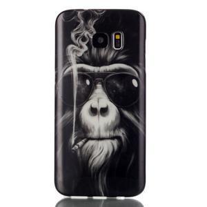 Softy gelový obal na Samsung Galaxy S7 edge - opičák - 1