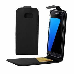 Flipové pouzdro na mobil Samsung Galaxy S7 edge - černé - 1