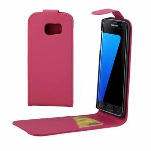Flipové pouzdro na mobil Samsung Galaxy S7 edge - rose - 1