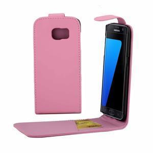 Flipové pouzdro na mobil Samsung Galaxy S7 edge - růžové - 1