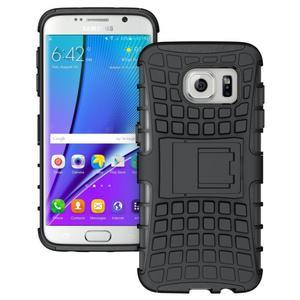 Odolný outdoor kryt na Samsung Galaxy S7 edge - černý - 1