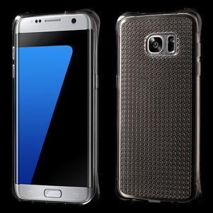Glitter gelový obal na Samsung Galaxy S7 edge - šedý - 1