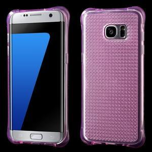 Glitter gelový obal na Samsung Galaxy S7 edge - rose - 1