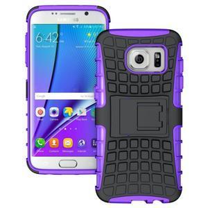 Odolný outdoor kryt na Samsung Galaxy S7 edge - fialový - 1