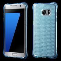 Glitter gelový obal na Samsung Galaxy S7 edge - modrý - 1/5