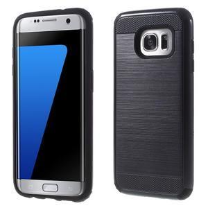 Odolný dvoudílný obal na Samsung Galaxy S7 edge - černý - 1