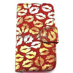 Pusinky peněženkové pouzdro na Samsung Galaxy S4 Mini - červené - 1