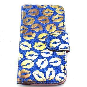 Pusinky peněženkové pouzdro na Samsung Galaxy S4 Mini - modré - 1