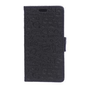Černé texturované pouzdro na Sony Xperia M4 Aqua - 1