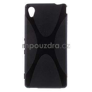 Černý gelový obal na Sony Xperia M4 Aqua - 1