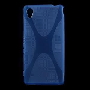 Modrý gelový obal na Sony Xperia M4 Aqua - 1