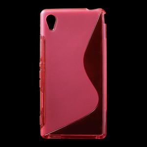 Rose s-line pružný obal na Sony Xperia M4 Aqua - 1