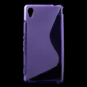 Fialový s-line pružný obal na Sony Xperia M4 Aqua - 1