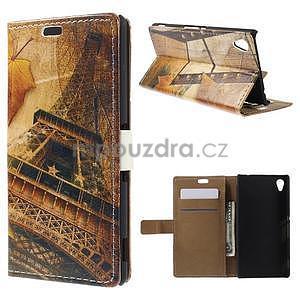 Peněženkové pouzdro na Sony Xperia M4 Aqua - Eiffel - 1