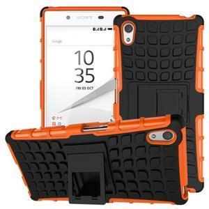 Outdoor odolný obal na Sony Xperia Z5 - oranžový - 1