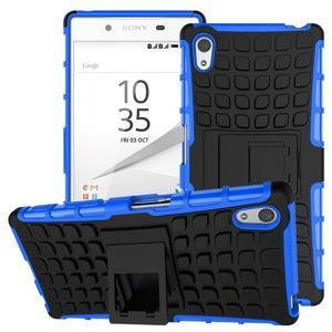 Outdoor odolný obal na Sony Xperia Z5 - modrý - 1