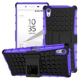 Outdoor odolný obal na Sony Xperia Z5 - fialový - 1