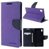 Mercur peněženkové pouzdro na Sony Xperia Z5 - fialové - 1/7