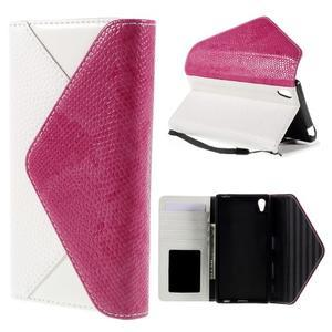Stylové peněženkové pouzdro Sony Xperia Z5 - rose - 1