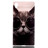 Softy gelový obal na mobil Sony Xperia Z5 - cool kočka - 1/3