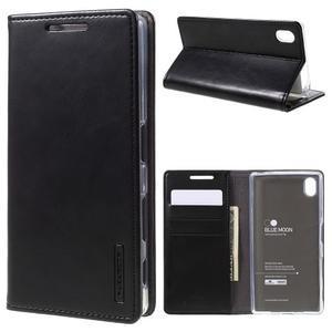 Moon PU kožené pouzdro na Sony Xperia Z5 - černé - 1