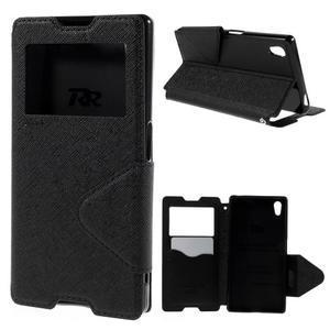 Diary pouzdro s okýnkem na Sony Xperia Z5 - černé - 1