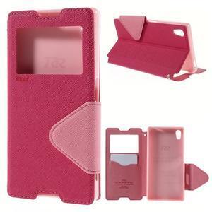 Diary pouzdro s okýnkem na Sony Xperia Z5 - rose - 1