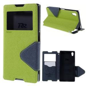 Diary pouzdro s okýnkem na Sony Xperia Z5 - zelené - 1