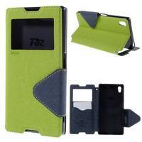 Diary pouzdro s okýnkem na Sony Xperia Z5 - zelené - 1/7