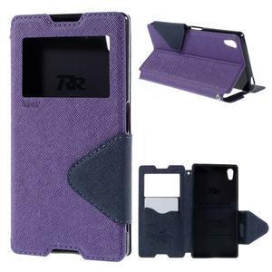 Diary pouzdro s okýnkem na Sony Xperia Z5 - fialové - 1