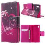Lovely pouzdro na mobil Sony Xperia Z5 - srdce - 1/6