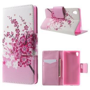 Lovely pouzdro na mobil Sony Xperia Z5 - kvetoucí větvička - 1