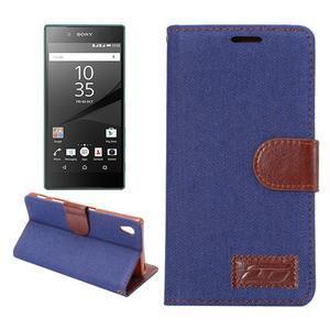 Jeans peněženkové pouzdro Sony Xperia Z5 - tmavěmodré - 1