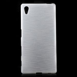Brush lesklý gelový obal na Sony Xperia Z5 - bílý - 1