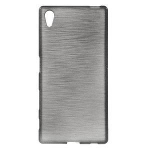 Brush lesklý gelový obal na Sony Xperia Z5 - šedý - 1