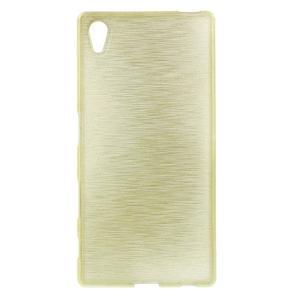 Brush lesklý gelový obal na Sony Xperia Z5 - champagne - 1