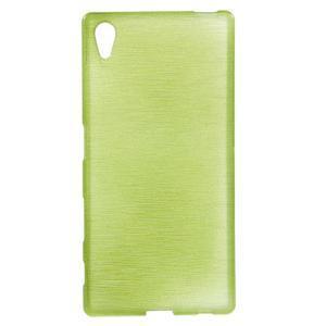 Brush lesklý gelový obal na Sony Xperia Z5 - zelený - 1