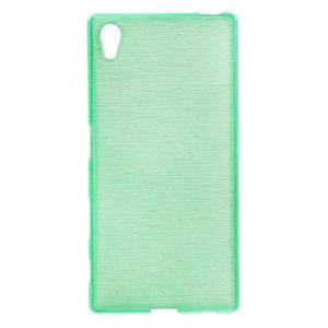 Brush lesklý gelový obal na Sony Xperia Z5 - cyan - 1
