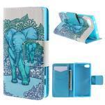Diary peněženkové pouzdro na Sony Xperia Z5 Compact - slon - 1/7