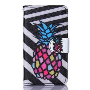Sand pouzdro na mobil Sony Xperia Z5 Compact - barevný ananas - 1