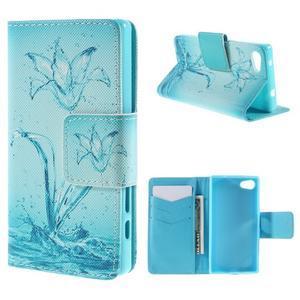 Diary peněženkové pouzdro na Sony Xperia Z5 Compact - vodní květ - 1