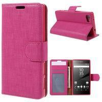 Grid peněženkové pouzdro na mobil Sony Xperia Z5 Compact - rose - 1/7