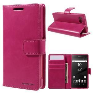 Bluemoon PU kožené pouzdro na Sony Xperia Z5 Compact - rose - 1
