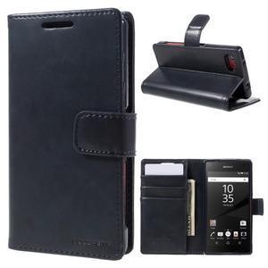 Bluemoon PU kožené pouzdro na Sony Xperia Z5 Compact - tmavěmodré - 1