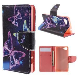 Wally peněženkové pouzdro na Sony Xperia Z5 Compact - kouzelní motýlci - 1