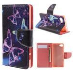 Wally peněženkové pouzdro na Sony Xperia Z5 Compact - kouzelní motýlci - 1/7
