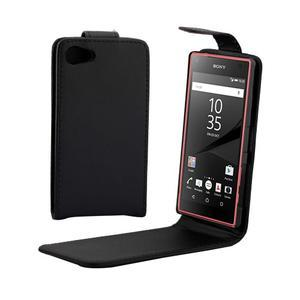 Flipové pouzdro na Sony Xperia Z5 Compact - černé - 1