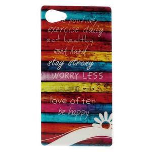 Gelový obal na mobil Sony Xperia Z5 Compact - barvy dřeva - 1