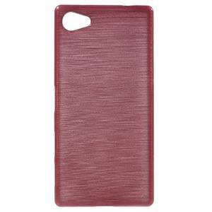 Brush gelový obal na Sony Xperia Z5 Compact - růžový - 1